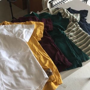 Other - SET OF 6 BOYS POLO AND BUTTON UP SHIRTS